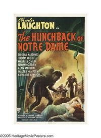 "The Hunchback of Notre Dame (RKO, 1939). One Sheet (27"" X 41""). ""I'm about as shapeless as the man in the..."