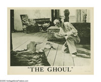 """The Ghoul (Gaumont, 1933). Lobby Card (11"""" X 14""""). Boris Karloff, as the undead Professor Morlant, finds the j..."""