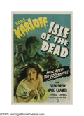 "Movie Posters:Horror, Isle of the Dead (RKO, 1945). One Sheet (27"" X 41""). A group of refugees from the Balkan wars of 1912 are quarantined on a G..."