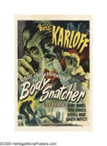 "Movie Posters:Horror, The Body Snatcher (RKO, 1945). One Sheet (27"" X 41""). This RobertLouis Stevenson tale was inspired by the true story of the..."