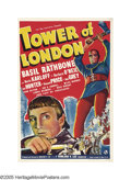 "Movie Posters:Horror, Tower of London (Universal, 1939). One Sheet (27"" X 41""). The storyline of Shakespeare's ""Richard III"" filtered through Univ..."