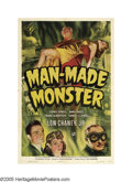 "Movie Posters:Horror, Man Made Monster (Universal, 1941). One Sheet (27"" X 41"").Universal dominated the horror genre through the 1940s, and this..."