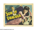 "Movie Posters:Horror, Son of Dracula (Universal, 1943). Title Card and Lobby Card (11"" X 14""). The Siodmak brothers collaborated on this thriller ... (2 items)"