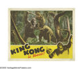 "Movie Posters:Horror, King Kong (RKO, R-1942). Lobby Card (3) (11"" X 14""). Monster filmstap into the international collective unconscious like fe... (3Items)"