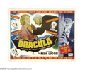 "Movie Posters:Horror, Dracula (Realart, 1951). Half Sheet (22"" X 28"") Style B. BramStoker's novel ""officially"" made it to the big screen when Uni..."