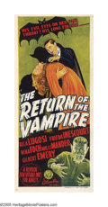 "Movie Posters:Horror, Return of the Vampire (Columbia, 1943). Australian Daybill (15"" X32""). Like Sean Connery playing a spy not named James Bond..."
