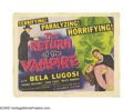 "Movie Posters:Horror, Return of the Vampire (Columbia, 1943). Title Lobby Card (11"" X14""). Bela Lugosi made one of his last serious attempts at t..."