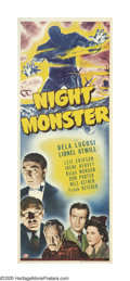 """Movie Posters:Horror, Night Monster (Universal, 1942). Insert (14"""" X 36""""). Bela Lugosiand Lionel Atwill star in the story of an old, dark mansion..."""