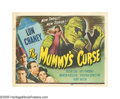 "Movie Posters:Horror, The Mummy's Curse (Universal, 1944). Title Lobby Card (11"" X 14"").That old standby monster guy, Lon Chaney, Jr., once again..."