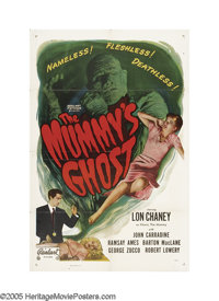 """The Mummy's Ghost (Realart, R-1953). One Sheet (27"""" X 41""""). This is Lon Chaney, Jr.'s second portrayal of Khar..."""