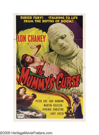 """The Mummy's Curse (Realart, R-1951). One Sheet (27"""" X 41""""). Lon Chaney's final portrayal of the Mummy is a cla..."""