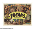 "Movie Posters:Horror, Freaks (MGM, R-1949). Title Lobby Card (11"" X 14""). ""We accept you,one of us!"" Cleopatra (Olga Baclanova), the trapeze arti..."