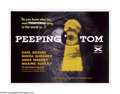 "Movie Posters:Horror, Peeping Tom (Anglo Amalgamated, 1960). British Quad (30"" X 40"").Overshadowed by the eerily similar ""Psycho"" from the same y..."