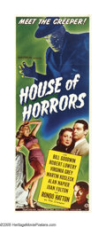 "Movie Posters:Horror, House of Horrors (Universal, 1946). Insert (14"" X 36""). RondoHatton reprises his role of the Creeper from the Sherlock Holm..."