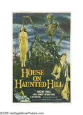 "Movie Posters:Horror, House on Haunted Hill (Allied Artists, 1958). Poster (40"" X 60""). One of horror legend Vincent Price's signature performance..."