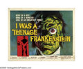 """Movie Posters:Horror, I Was a Teenage Frankenstein (American International, 1957). Half Sheet (22"""" X 28""""). In the 1950s, independent studios like ..."""