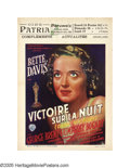 "Movie Posters:Drama, Dark Victory (Warner Brothers, 1947 Post-War Release). Belgian(11.75"" X 16.5""). This small format Belgian poster positively..."