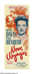 "Movie Posters:Romance, Now, Voyager (Warner Brothers, 1942). Insert (14"" X 36""). This Bette Davis melodrama is best remembered for a gesture and a ..."