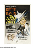 "Movie Posters:Drama, The Little Foxes (RKO, 1941). One Sheet (27"" X 41""). LillianHellman's play was adapted into this ruthless tale of money and..."