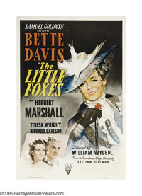 "The Little Foxes (RKO, 1941). One Sheet (27"" X 41""). Lillian Hellman's play was adapted into this ruthless tal..."