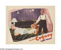 "Lady Killer (Warner Brothers, 1933). Lobby Card (11"" X 14""). James Cagney (Dan Quigley), in an attempt to esca..."