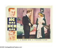 "He Was Her Man (Warner Brothers, 1934). Lobby Cards (2) (11"" X 14""). In this hard-hitting crime drama James Ca..."