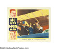 "Movie Posters:Crime, He Was Her Man (Warner Brothers, 1934). Lobby Cards (3) (11"" X14""). James Cagney, Joan Blondell and Victor Jory are caught ... (3Items)"