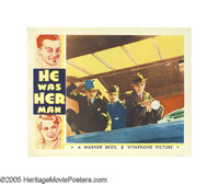 "He Was Her Man (Warner Brothers, 1934). Lobby Cards (3) (11"" X 14""). James Cagney, Joan Blondell and Victor Jo..."
