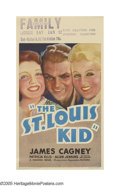"Movie Posters:Drama, St. Louis Kid (Warner Brothers, 1934). Midget Window Card (8"" X14""). James Cagney plays Eddie Kennedy, a long-distance truc..."