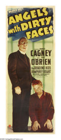 "Movie Posters:Drama, Angels With Dirty Faces (Warner Brothers, 1938). Insert (14"" X36""). James Cagney and Pat O'Brien star in this classic about..."