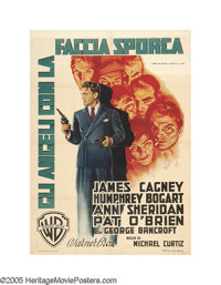 "Angels With Dirty Faces (Warner Brothers, 1949 Post-War Release). Italian (39"" X 55""). This spectacular design..."