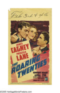 "Movie Posters:Crime, Roaring Twenties (Warner Brothers, 1939). Midget Window Card (8"" X14""). This last of the '30s gangster films, with James Ca..."