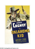 "Movie Posters:Western, The Oklahoma Kid (Warner Brothers, 1939). One Sheet (27"" X 41"").Usually, when Humphrey Bogart angered Jack Warner by compla..."