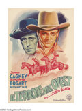 """Movie Posters:Western, The Oklahoma Kid (Warner Brothers, R-1953). Italian One Sheet (27"""" X 39""""). With art by the amazing Martinati, James Cagney a..."""