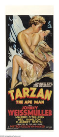 "Movie Posters:Adventure, Tarzan the Ape Man (MGM, 1932). Australian Daybill (15"" X 40"").Films based on Edgar Rice Burroughs' vine-swinging jungle he..."