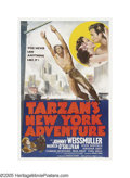 """Movie Posters:Action, Tarzan's New York Adventure (MGM, 1942). One Sheet (27"""" X 41"""").Johnny Weissmuller, as the Lord of the Jungle, Tarzan, follo..."""
