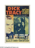 "Movie Posters:Mystery, Dick Tracy (Republic, 1937). One Sheet (27"" X 41""). Dick Tracy's brother is hypnotized and turned into a criminal. Tracy has..."