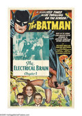 "Movie Posters:Serial, The Batman (Columbia, 1943). One Sheet (27"" X 41""). Batman'shistoric first screen appearance was this premier segment of a ..."
