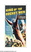 "Movie Posters:Serial, King of the Rocketmen (Republic, R-1956). Three Sheet (41"" X 81"").Inspired by early science fiction pulps and the comic str..."