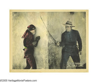 """The Mark of Zorro (United Artists, 1920). Lobby Card (11"""" X 14""""). Douglas Fairbanks gets the perfect chance to..."""