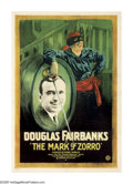 "Movie Posters:Swashbuckler, The Mark of Zorro (United Artists, 1920). One Sheet (27"" X 41""). In the late summer of 1919, readers of the ""All-Story Weekl..."