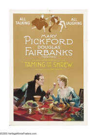 "Taming of the Shrew (United Artists, 1929). One Sheet (27"" X 41""). This early ""talkie"" marked the se..."