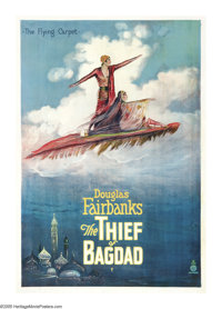 "The Thief of Bagdad (United Artists, 1924). One Sheet (27"" X 41""). Douglas Fairbanks stars in one of the great..."