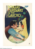 "Movie Posters:Adventure, The Gaucho (United Artists, 1927). One Sheet (27"" X 41""). In thisdark tale, Douglas Fairbanks takes a different turn on his..."