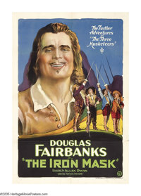 """The Iron Mask (United Artists, 1929). One Sheet (27"""" X 41""""). Directed by Allan Dwan, this was screen star Doug..."""