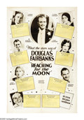 "Movie Posters:Comedy, Reaching for the Moon (United Artists, 1930). One Sheet (28"" X42""). This Depression-influenced comedy stars Douglas Fairban..."