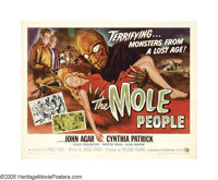 "The Mole People (Universal International, 1956). Half Sheet (22"" X 28"") Style B. One of the denizens of the de..."