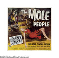 "Movie Posters:Science Fiction, The Mole People (Universal International, 1956). Six Sheet (81"" X81""). John Agar leads a group of archaeologists on an expe..."