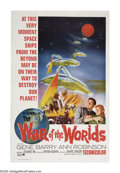 "Movie Posters:Science Fiction, The War of the Worlds (Paramount, R-1965). One Sheet (27"" X 41"").In this adaptation of H.G. Wells' classic sci-fi novel, th..."