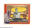 "Movie Posters:Science Fiction, The Day the Earth Stood Still (20th Century Fox, 1951). Lobby Card(11"" X 14""). An alien warns mankind that it must live in ..."